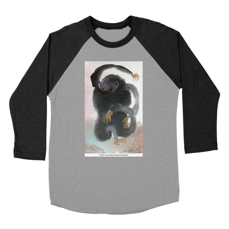 Gorilla 2 Women's Baseball Triblend T-Shirt by diegomanuel's Artist Shop