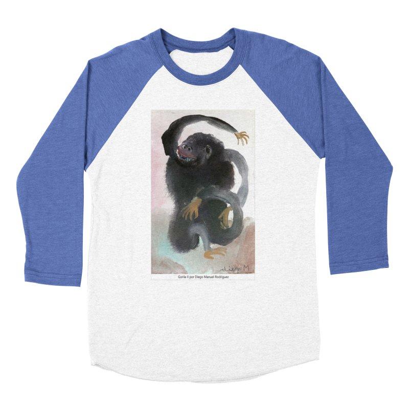 Gorilla 2 Men's Baseball Triblend T-Shirt by diegomanuel's Artist Shop
