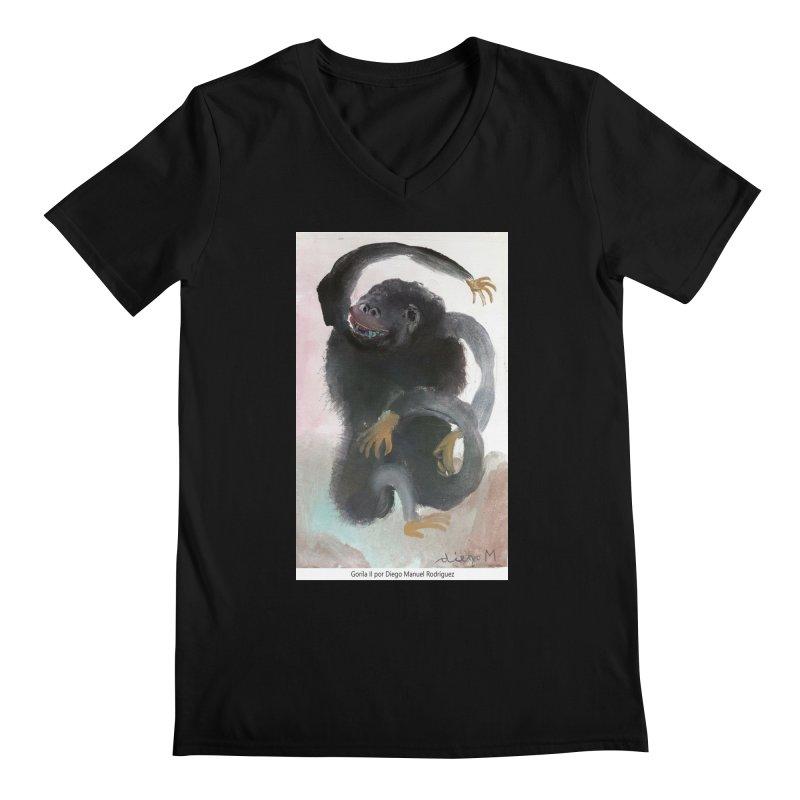 Gorilla 2 Men's V-Neck by diegomanuel's Artist Shop