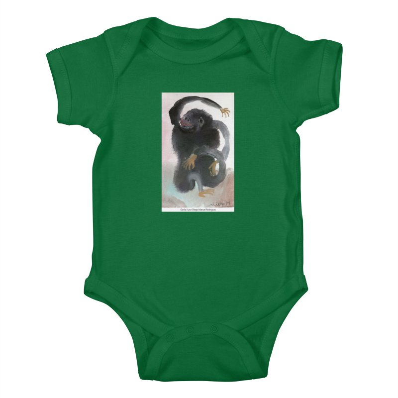 Gorilla 2 Kids Baby Bodysuit by diegomanuel's Artist Shop