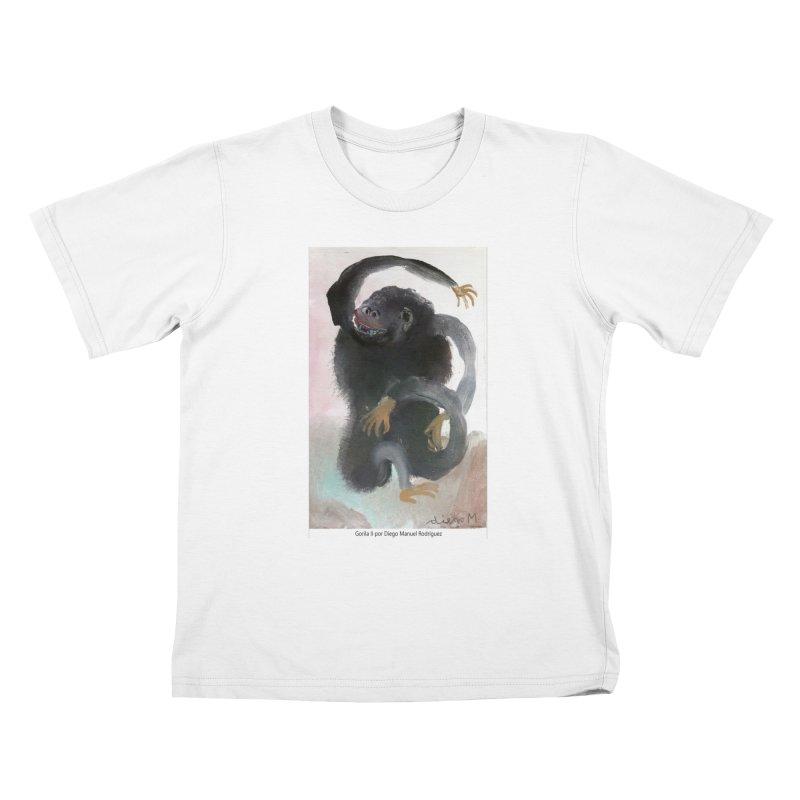 Gorilla 2 Kids T-Shirt by diegomanuel's Artist Shop