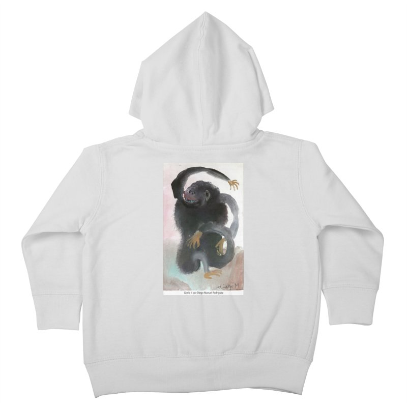 Gorilla 2 Kids Toddler Zip-Up Hoody by diegomanuel's Artist Shop
