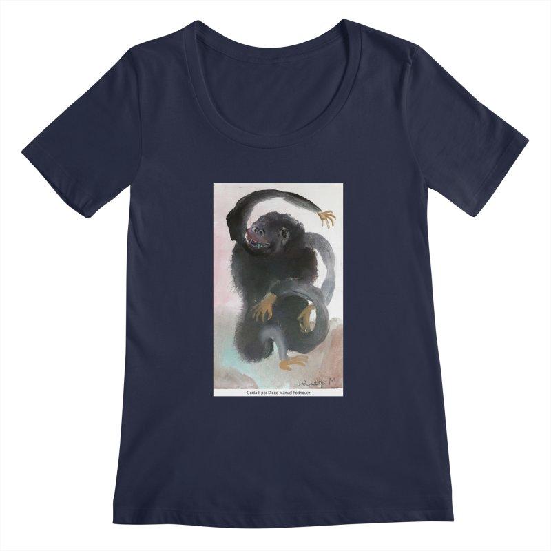Gorilla 2 Women's Scoopneck by diegomanuel's Artist Shop