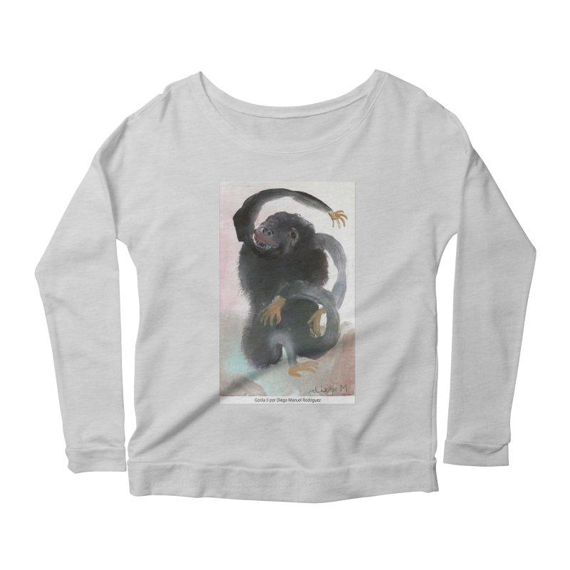 Gorilla 2 Women's Longsleeve Scoopneck  by diegomanuel's Artist Shop