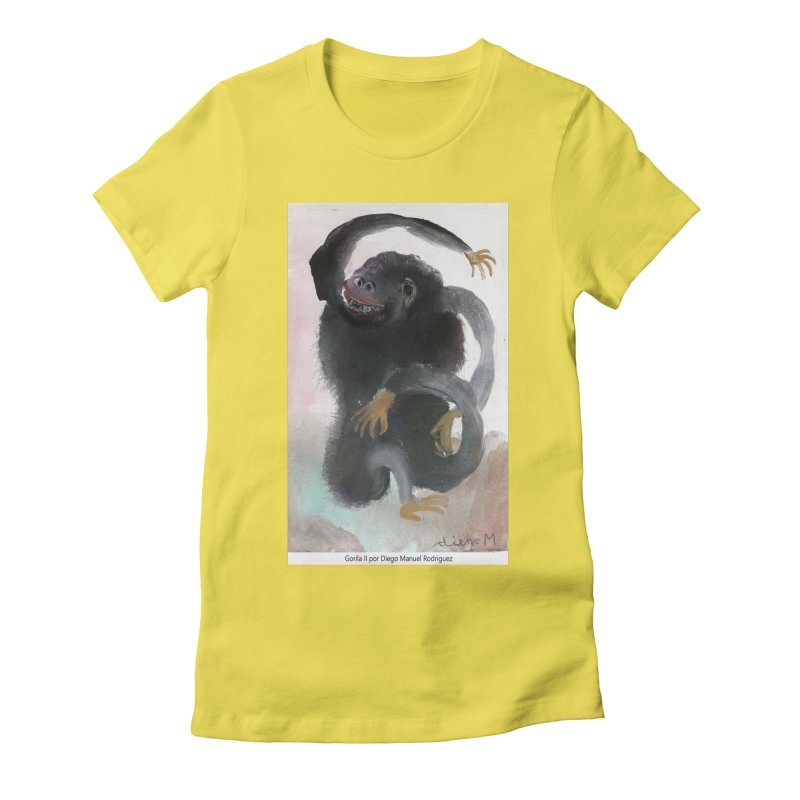 Gorilla 2 Women's Fitted T-Shirt by diegomanuel's Artist Shop