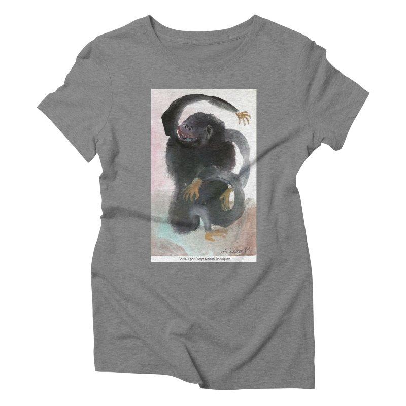 Gorilla 2 Women's Triblend T-Shirt by diegomanuel's Artist Shop