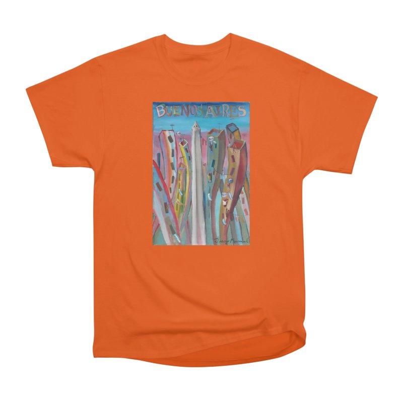 Buenos Aires goal! Women's Heavyweight Unisex T-Shirt by diegomanuel's Artist Shop
