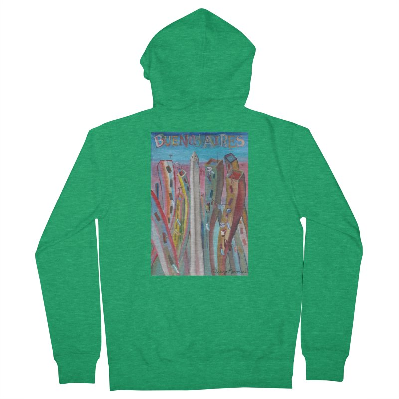 Buenos Aires goool! Men's French Terry Zip-Up Hoody by diegomanuel's Artist Shop
