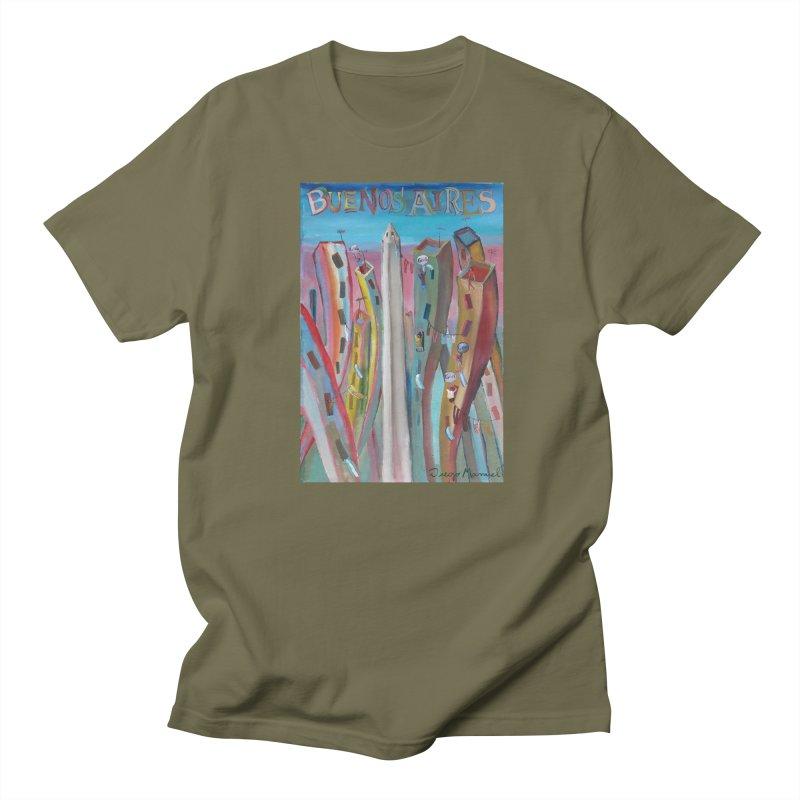 Buenos Aires goal! Men's Regular T-Shirt by diegomanuel's Artist Shop