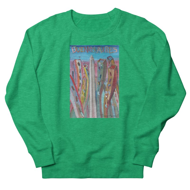 Buenos Aires goal! Women's French Terry Sweatshirt by diegomanuel's Artist Shop