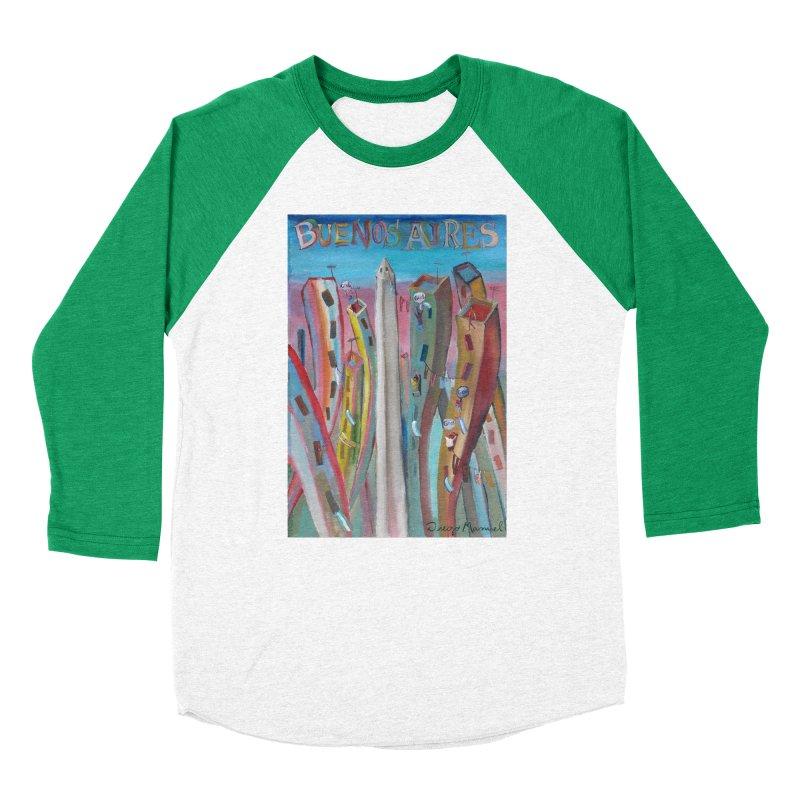Buenos Aires goool! Men's Baseball Triblend Longsleeve T-Shirt by diegomanuel's Artist Shop