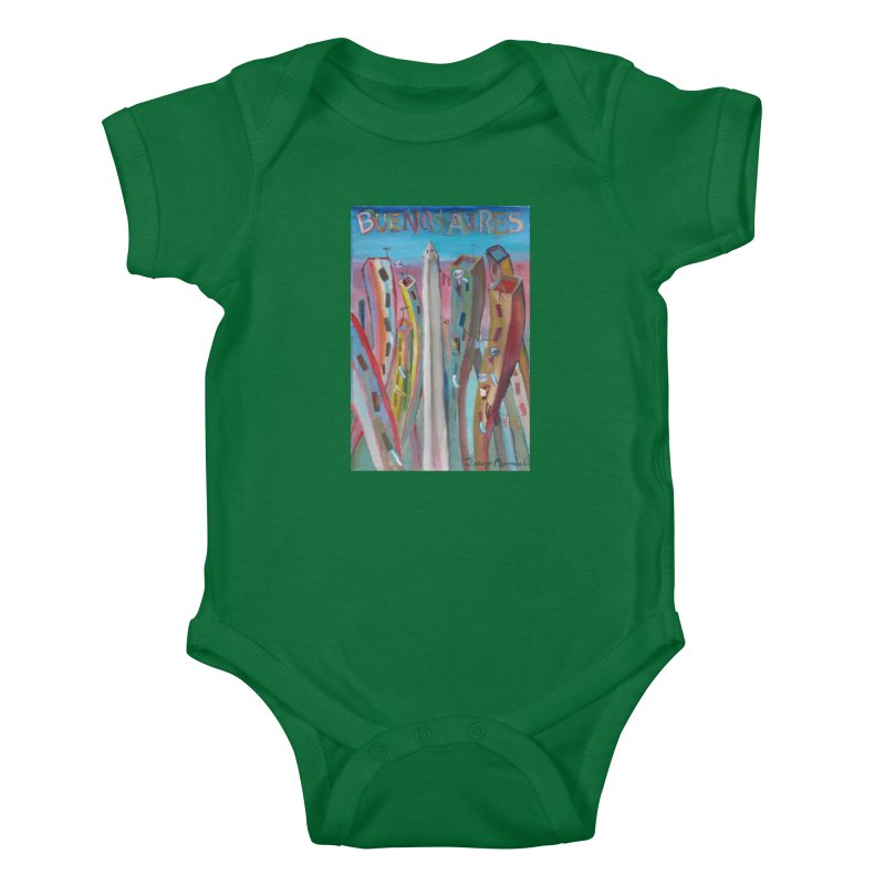 Buenos Aires goal! Kids Baby Bodysuit by Diego Manuel Rodriguez Artist Shop