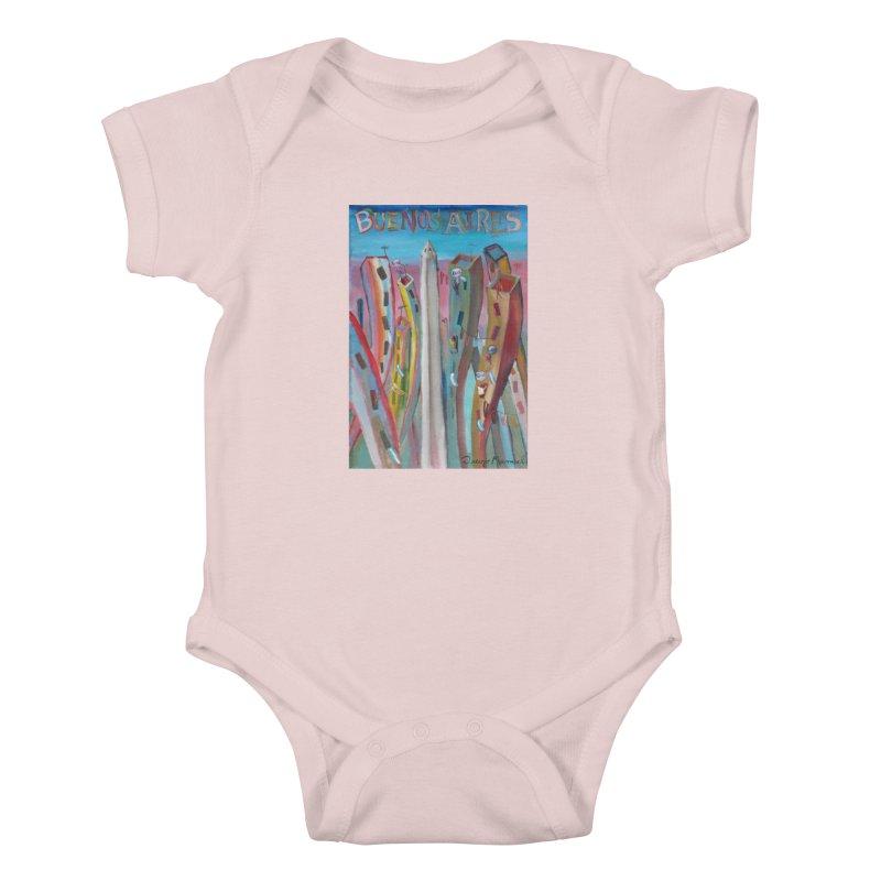 Buenos Aires goal! Kids Baby Bodysuit by diegomanuel's Artist Shop
