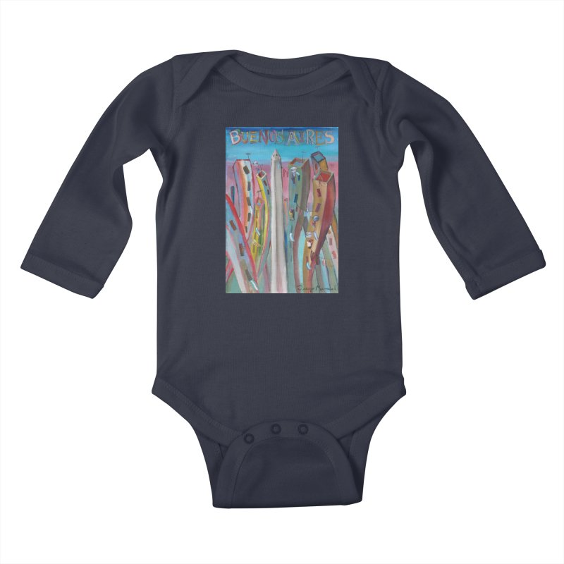 Buenos Aires goal! Kids Baby Longsleeve Bodysuit by Diego Manuel Rodriguez Artist Shop