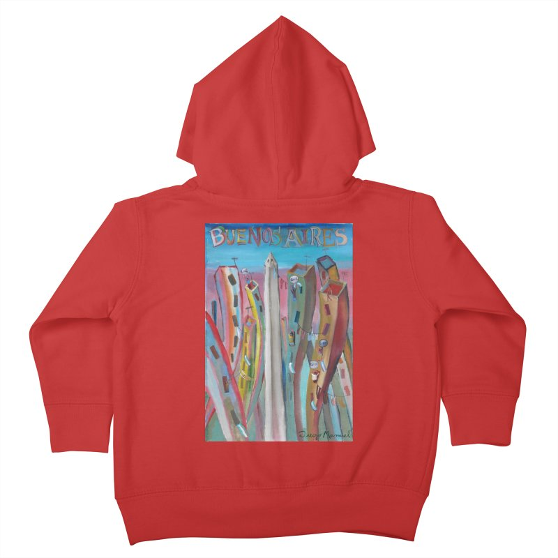 Buenos Aires goal! Kids Toddler Zip-Up Hoody by Diego Manuel Rodriguez Artist Shop