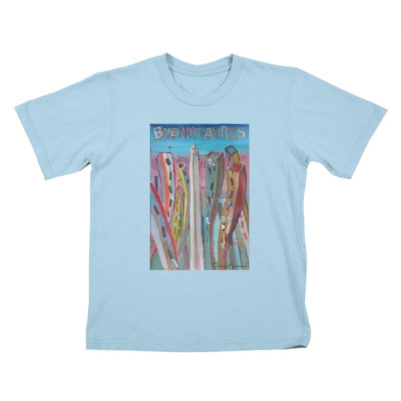 Buenos Aires goal! Kids T-Shirt by diegomanuel's Artist Shop