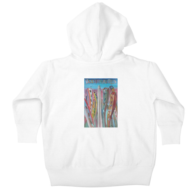 Buenos Aires goal! Kids Baby Zip-Up Hoody by Diego Manuel Rodriguez Artist Shop