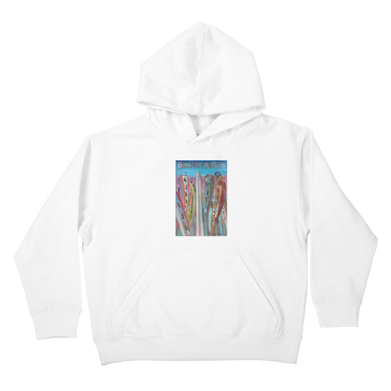 Buenos Aires goal! Kids Pullover Hoody by diegomanuel's Artist Shop