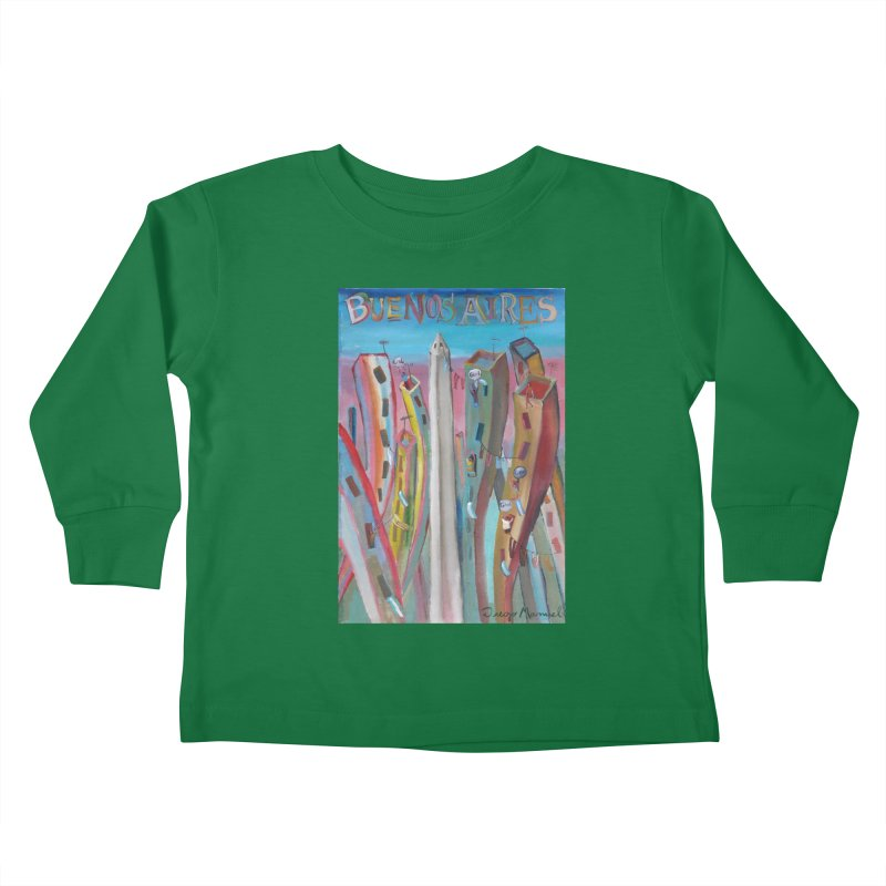 Buenos Aires goal! Kids Toddler Longsleeve T-Shirt by diegomanuel's Artist Shop