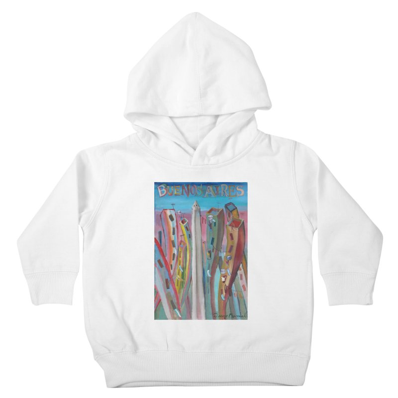 Buenos Aires goal! Kids Toddler Pullover Hoody by diegomanuel's Artist Shop