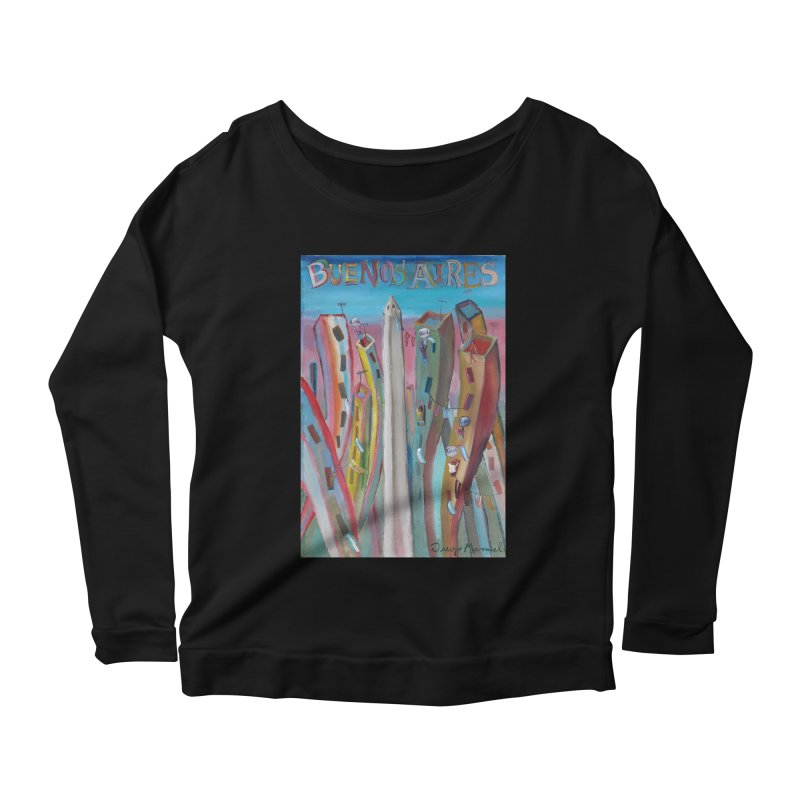 Buenos Aires goal! Women's Scoop Neck Longsleeve T-Shirt by diegomanuel's Artist Shop