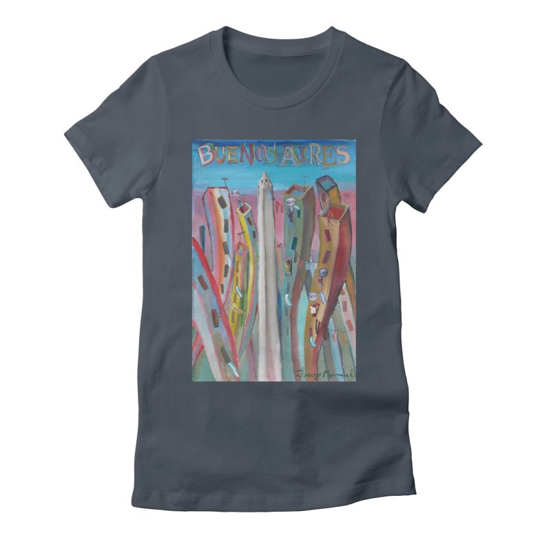 Buenos Aires goal! Women's T-Shirt by Diego Manuel Rodriguez Artist Shop
