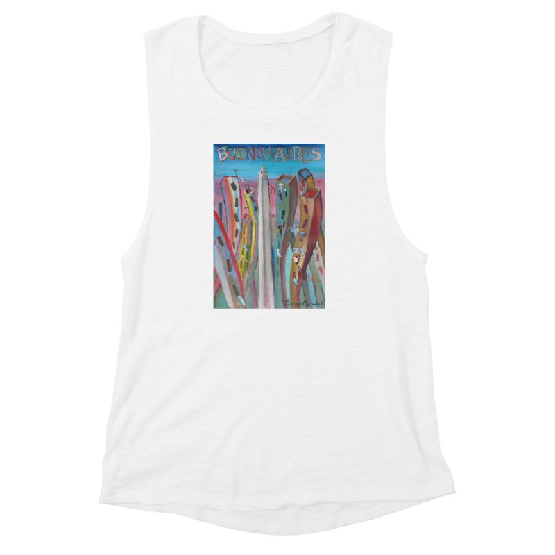 Buenos Aires goal! Women's Muscle Tank by diegomanuel's Artist Shop