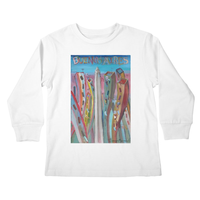 Buenos Aires goal! Kids Longsleeve T-Shirt by diegomanuel's Artist Shop