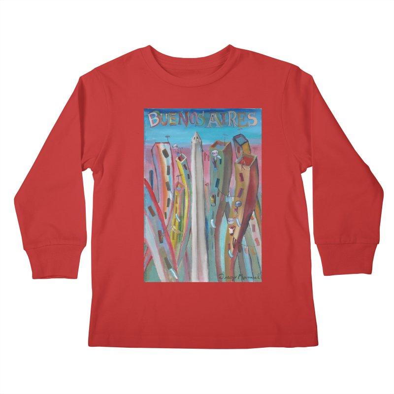 Buenos Aires goool! Kids Longsleeve T-Shirt by diegomanuel's Artist Shop