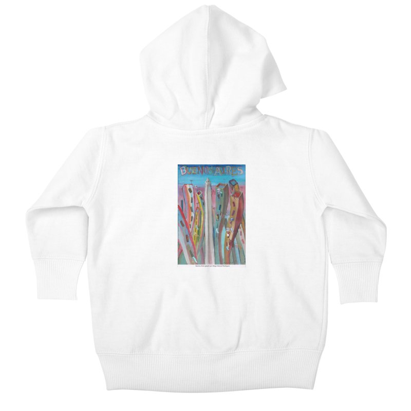 Buenos Aires goool! Kids Baby Zip-Up Hoody by diegomanuel's Artist Shop