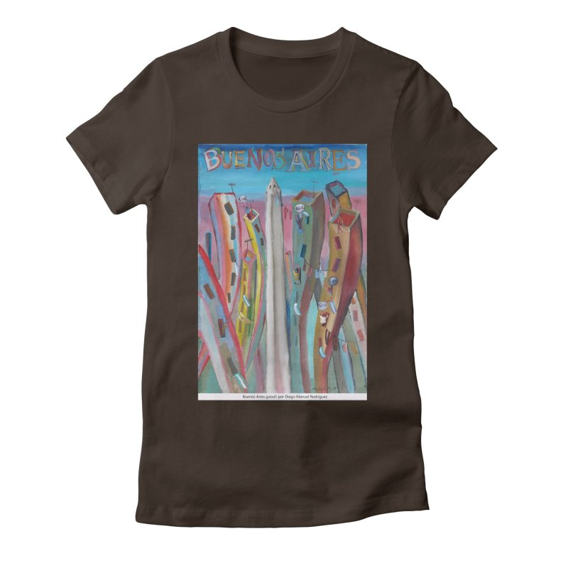 Buenos Aires goool! Women's Fitted T-Shirt by diegomanuel's Artist Shop