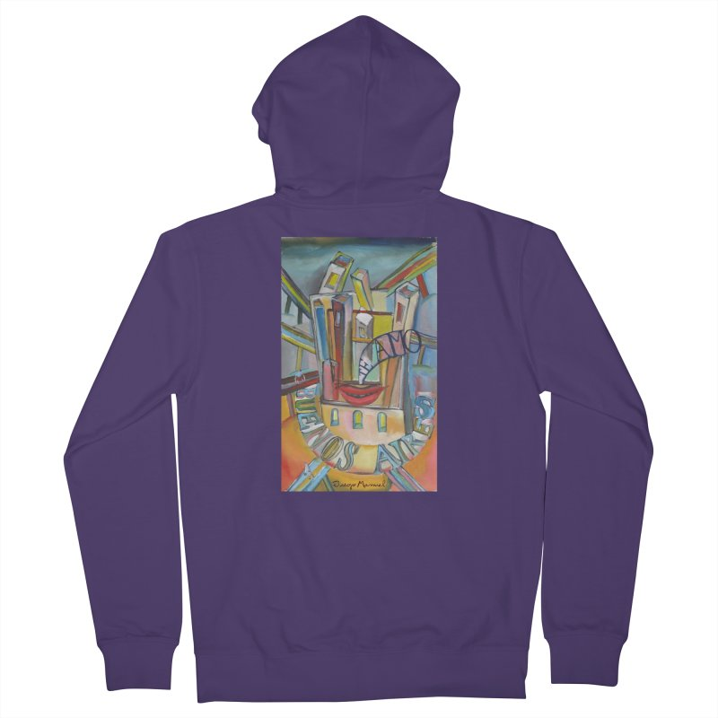 I love you Buenos Aires Women's French Terry Zip-Up Hoody by diegomanuel's Artist Shop
