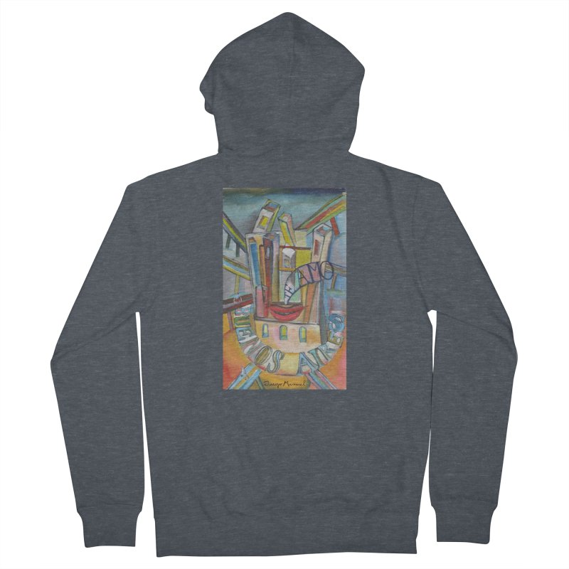 I love you Buenos Aires Men's French Terry Zip-Up Hoody by diegomanuel's Artist Shop