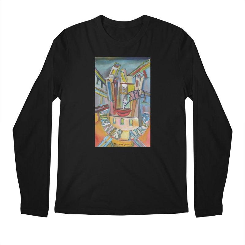 I love you Buenos Aires Men's Regular Longsleeve T-Shirt by diegomanuel's Artist Shop