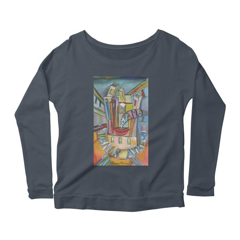 I love you Buenos Aires Women's Scoop Neck Longsleeve T-Shirt by diegomanuel's Artist Shop