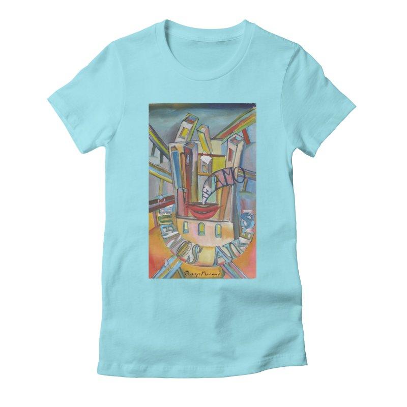 Te amo Buenos Aires Women's Fitted T-Shirt by diegomanuel's Artist Shop