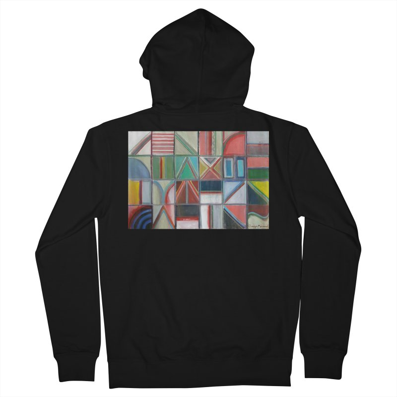 Text Women's French Terry Zip-Up Hoody by diegomanuel's Artist Shop