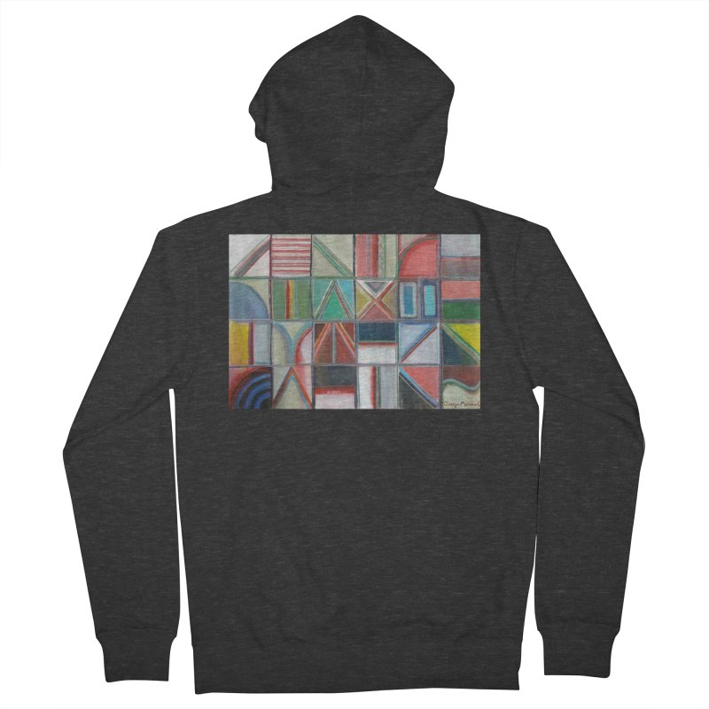 Text Men's French Terry Zip-Up Hoody by diegomanuel's Artist Shop