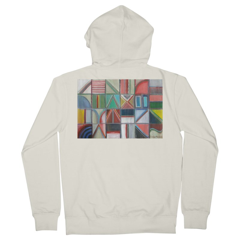 Texto Men's French Terry Zip-Up Hoody by diegomanuel's Artist Shop