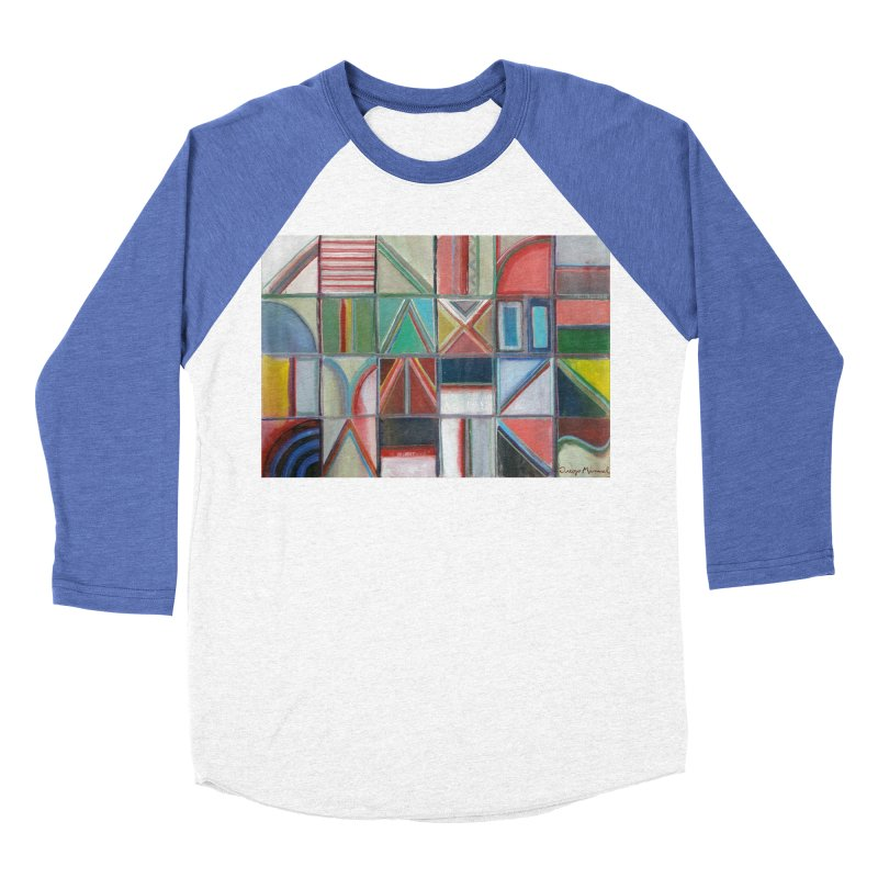 Text Women's Baseball Triblend Longsleeve T-Shirt by diegomanuel's Artist Shop