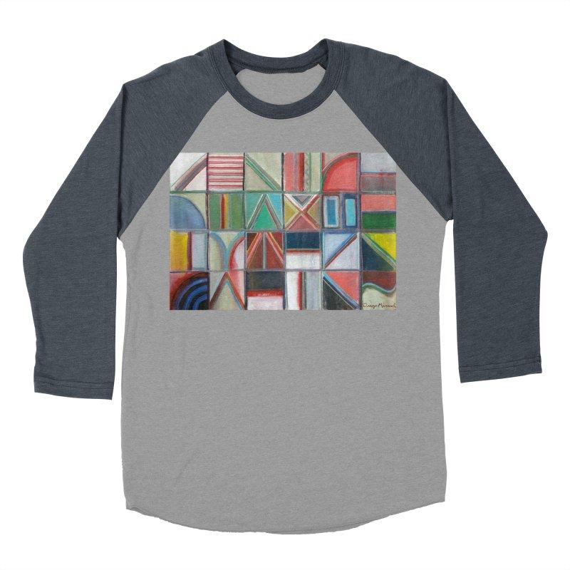 Texto Men's Baseball Triblend Longsleeve T-Shirt by diegomanuel's Artist Shop