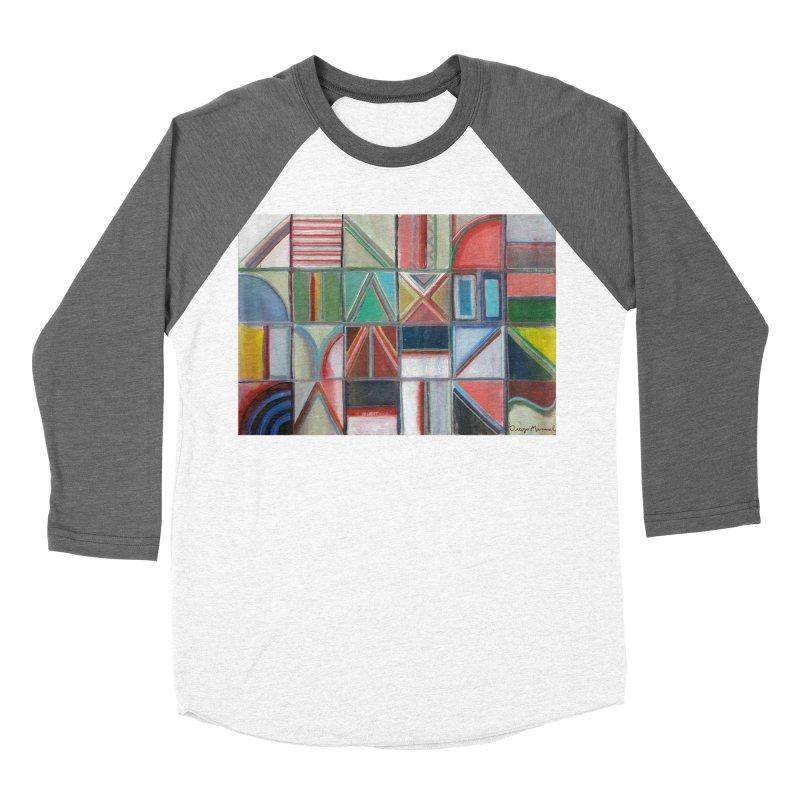 Text Men's Baseball Triblend Longsleeve T-Shirt by diegomanuel's Artist Shop