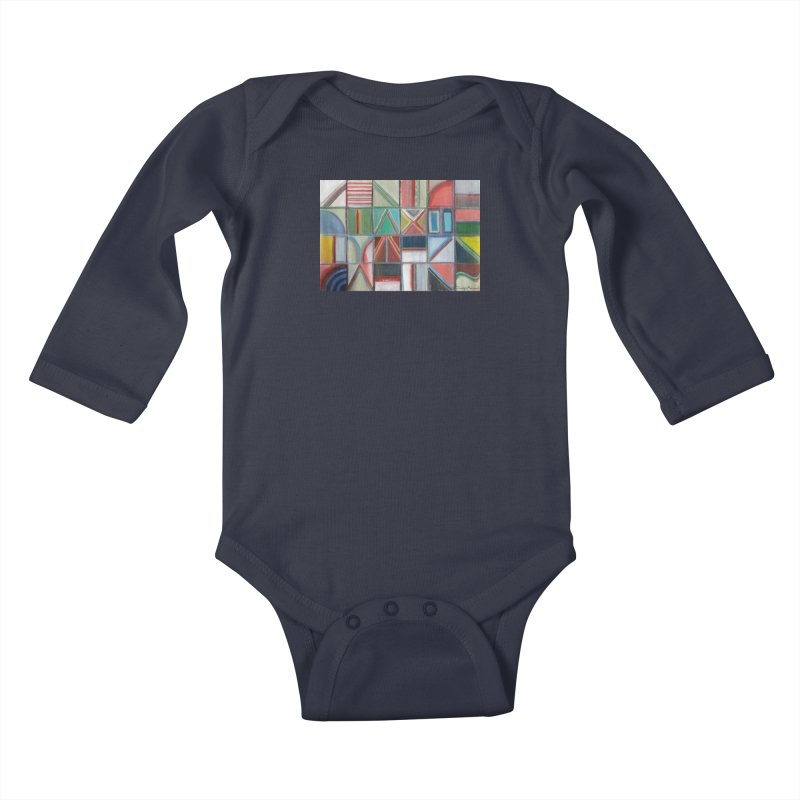 Text Kids Baby Longsleeve Bodysuit by diegomanuel's Artist Shop