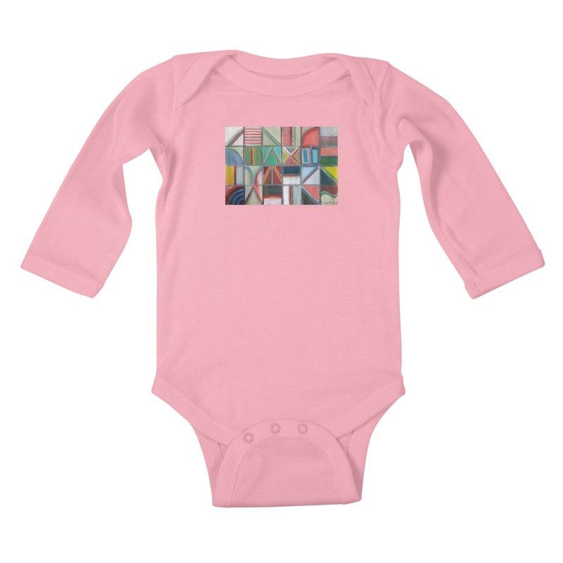 Text Kids Baby Longsleeve Bodysuit by diegomanuel's Artist Shop