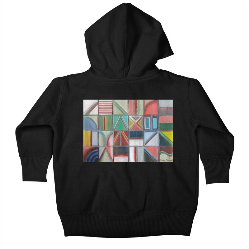 Text Kids Baby Zip-Up Hoody by diegomanuel's Artist Shop