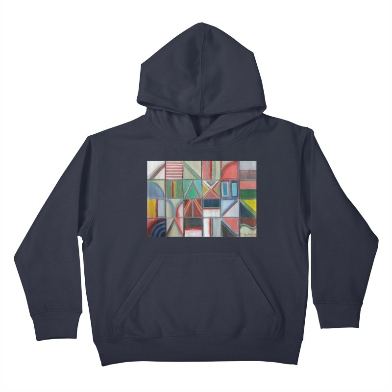 Text Kids Pullover Hoody by diegomanuel's Artist Shop