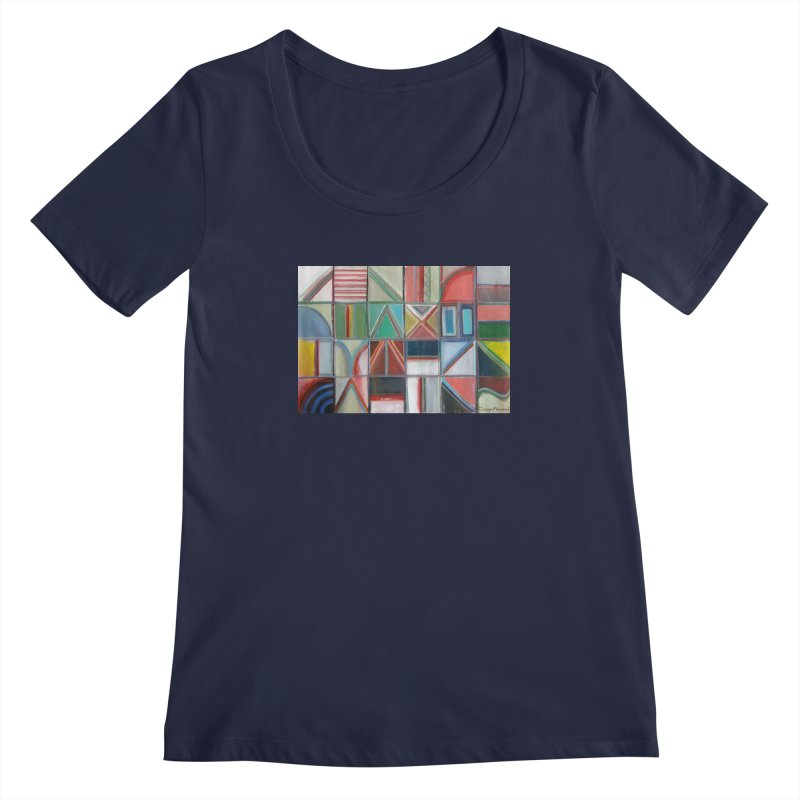 Text Women's Regular Scoop Neck by diegomanuel's Artist Shop