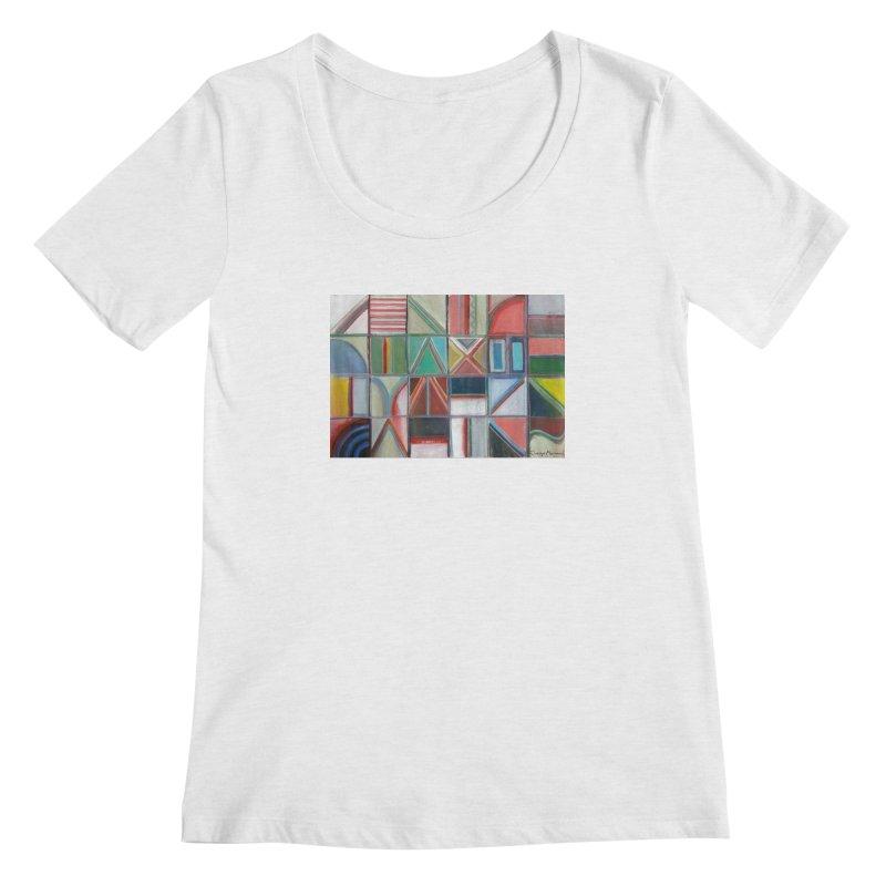 Text Women's Regular Scoop Neck by diegomanuel's Artist Shop