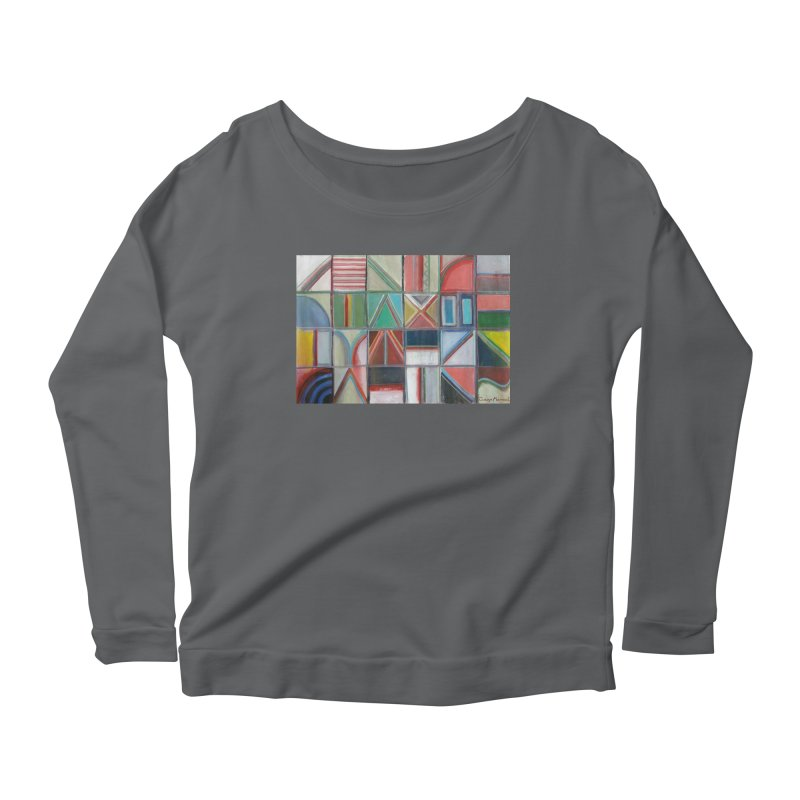 Text Women's Scoop Neck Longsleeve T-Shirt by diegomanuel's Artist Shop