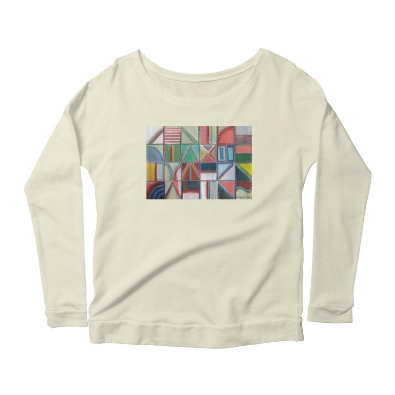 Text Women's Scoop Neck Longsleeve T-Shirt by diegomanuel's Artist Shop